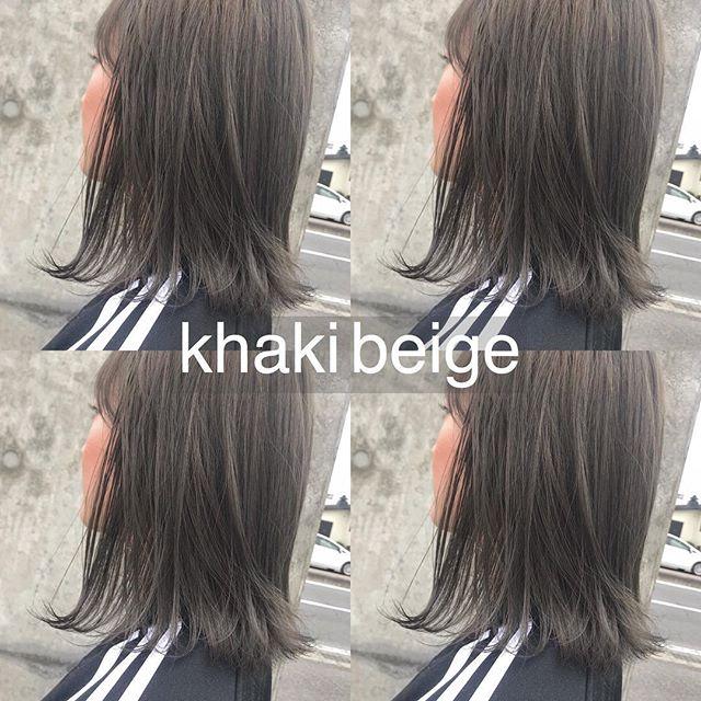 担当シオリ @shiori_tomii ケアブリーチをして、ダメージレスなkhaki beigeへ♡柔らかい色味colorはお任せ下さい♡#abond #shiori_hair #khakibeige#カーキベージュ#高崎美容室