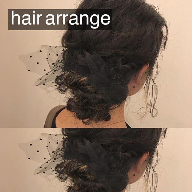 担当シオリ @shiori_tomii 二次会hair arrange#abond #shiori_hair #hairarrange #ヘアアレンジ#ヘアセット#高崎美容室