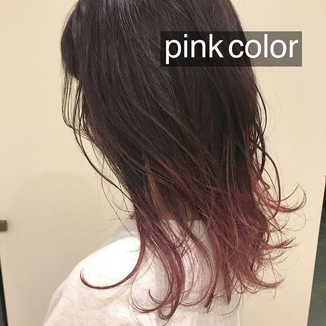 担当シオリ @shiori_tomii ベリーピンクのグラデーションカラー丹#abond #shiori_hair #グラデーションカラー #ピンク#高崎美容室