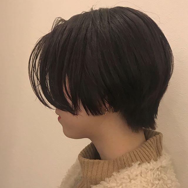 担当シオリ @shiori_tomii BOBからばっさりハンサムショートに♡かわいすぎます♡#abond #shiori_hair #ハンサムショート#高崎美容室