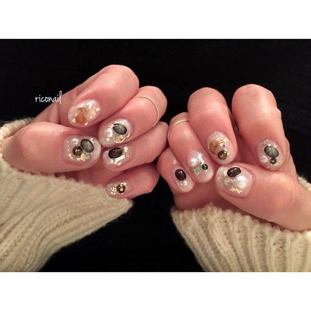 ストーンいっぱい!!#riconail #HEARTY #abond #nail #nails #gelnail #gelnails #nailart #instanails #nailstagram #beauty #fashion #nuancenail #silver #blue #ネイル #ジェルネイル #ネイルデザイン #ニュアンスネイル #ショートネイル @riconail123