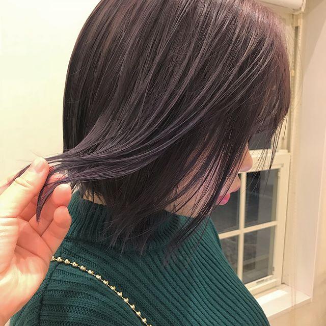担当シオリ @shiori_tomii 色持ちがよくなるようにラベンダーピンクにしました#abond #shiori_hair #ラベンダーピンク#高崎美容室