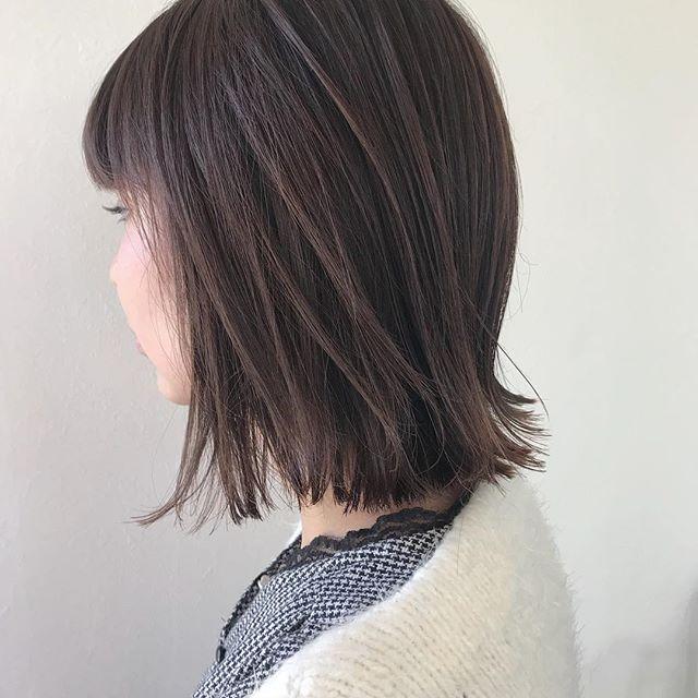 担当シオリ @shiori_tomii バッサリと切りっぱなしbobにさせてもらいました#abond #shiori_hair #bob#高崎美容室