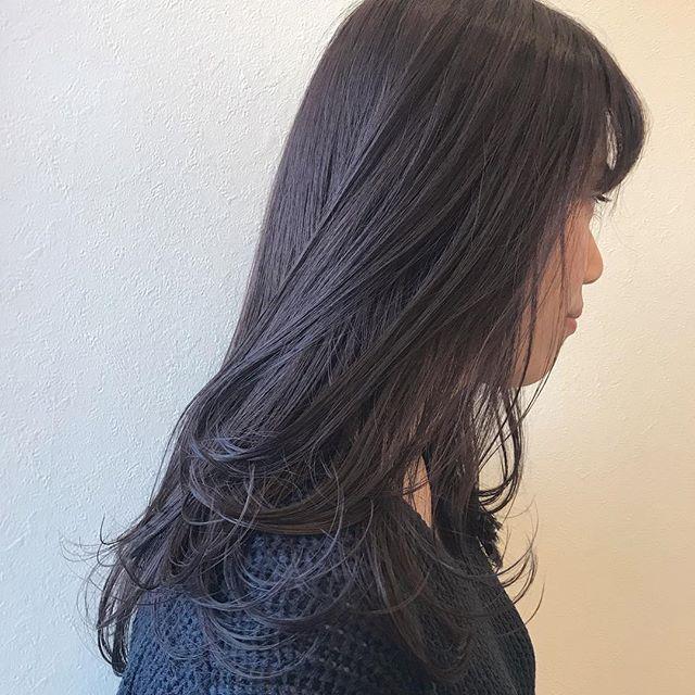 担当シオリ @shiori_tomii 暗めなpink gray#abond#shiori_hair #ピンクグレー#グレージュ#高崎美容室#春カラー