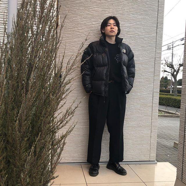 """""""Staff snap""""@jukito_yajima outer:the north faceinner:tokyononsensepants:vintage #snap#高崎#takasaki#サロン#美容室#abond#heartyabond#black"""
