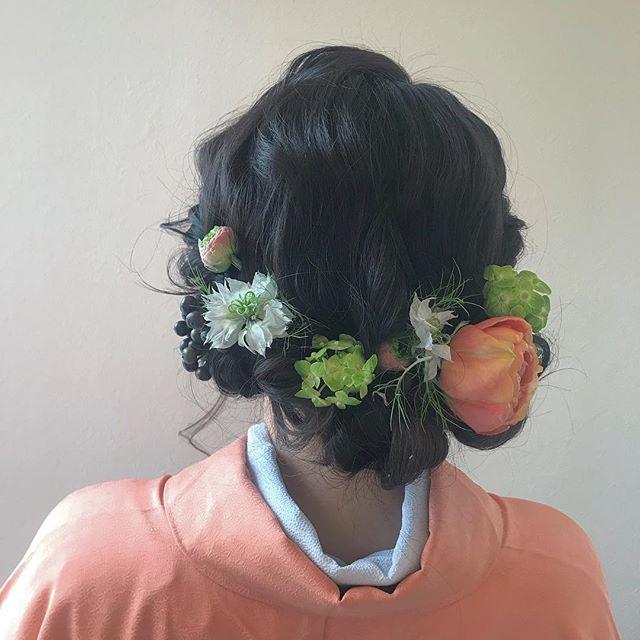 担当シオリ @shiori_tomii 卒業式ヘアセット4/1からはHEARTY @hearty__s に移動しますのでご予約はそちらからお願いします♡#abond #shiori_hair #卒業式ヘア #成人式ヘア#ヘアセット#高崎美容室