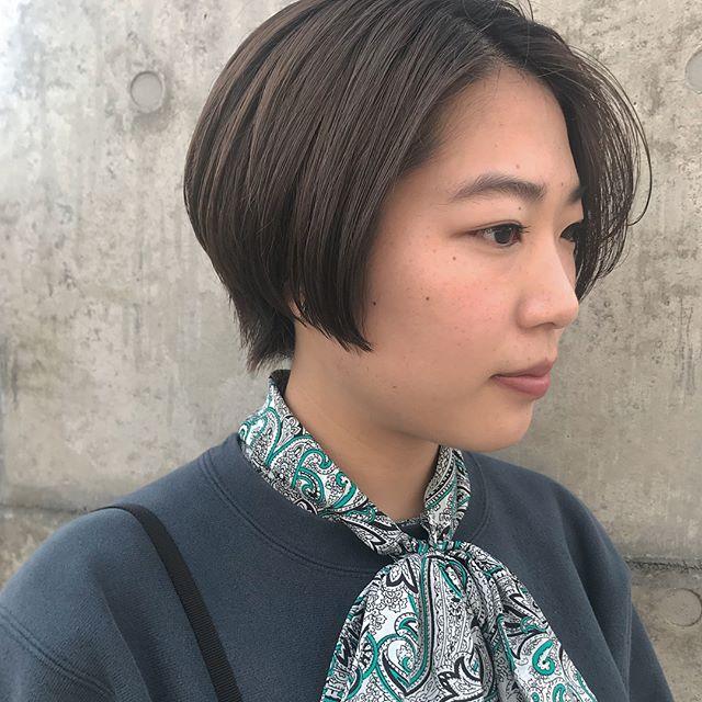 担当シオリ @shiori_tomii ハンサムショート4/1からはHEARTY @hearty__s に移動しますのでご予約はそちらからお願いします♡#abond #shiori_hair #ハンサムショート#高崎美容室