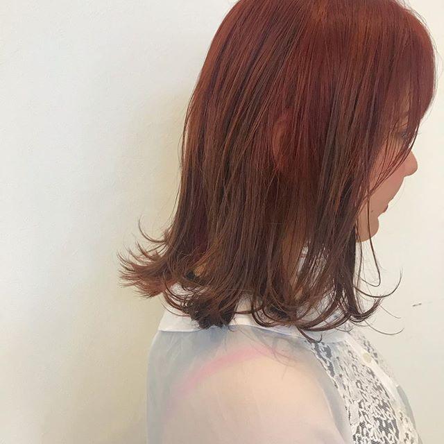 hair ... TOMMY ︎red orange からのグラデーション #tommy_hair#abond#hearty abond#高崎#高崎美容室#redorange #red #orange