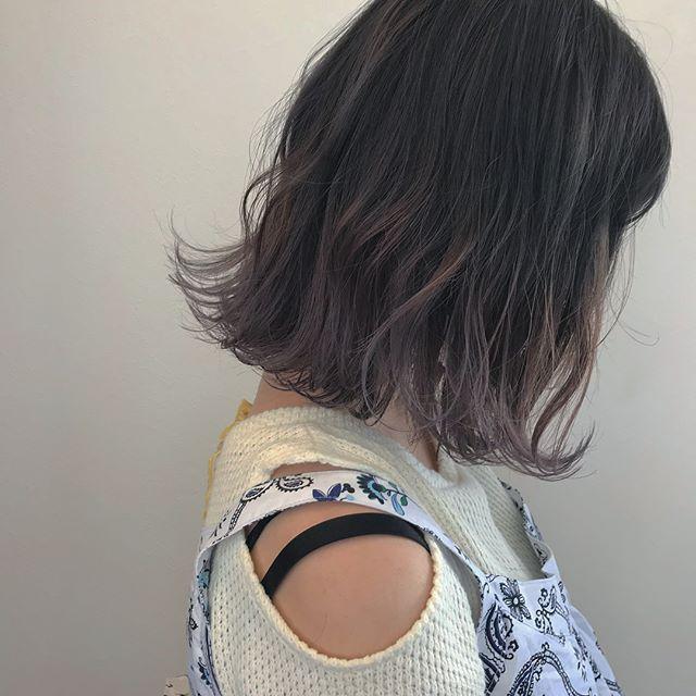 hair ... TOMMY ︎根元は濃いめの gray から、ハイライトを入れたlavender beige @abond_tommy #tommy_hair #abond#hearty abond#高崎#高崎美容室