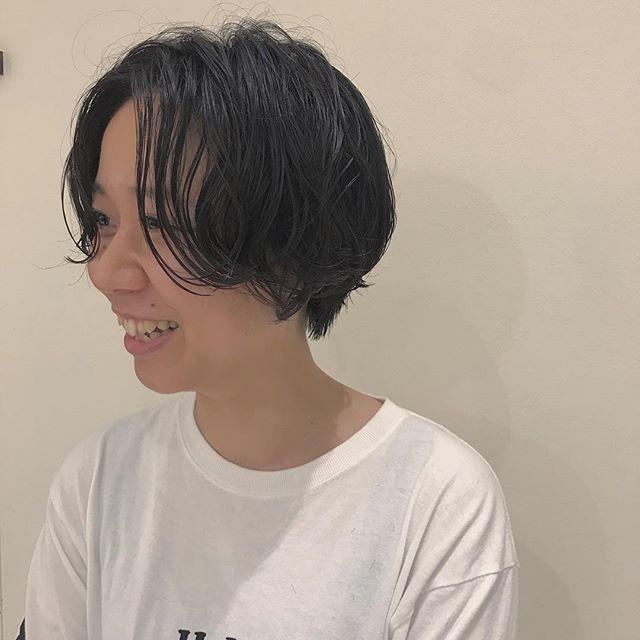 hair ... TOMMY ︎short hair はparmをかけて💭💭ラクチンhair @abond_tommy #tommy_hair#heartyabond# abond#アボンド#高崎#高崎美容室#shorthair #short#ショート#ショートヘア#ショート女子 #ショートパーマ #パーマ#parm