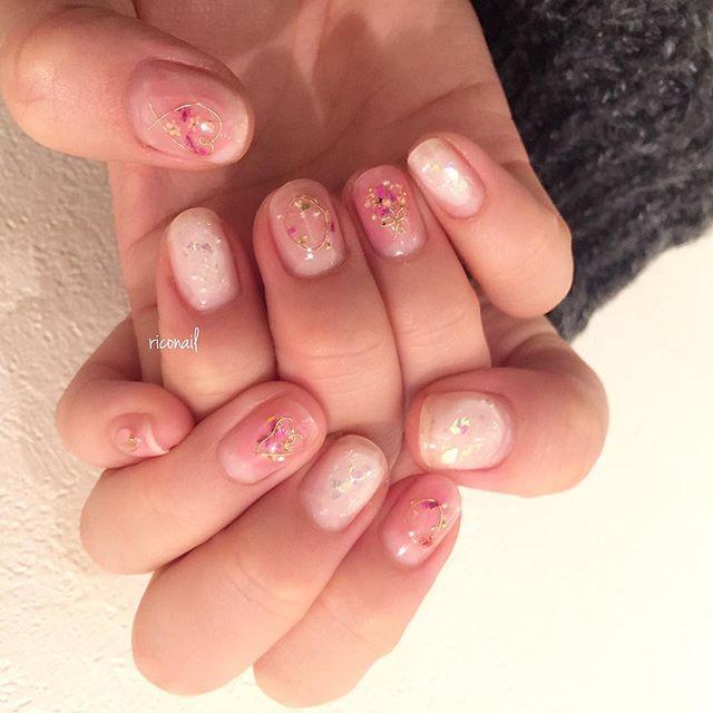 チークネイル❁#riconail #HEARTY #abond #nail #nails #gelnail #gelnails #nailart #instanails #nailstagram #beauty #fashion #nuancenail #ネイル #ジェルネイル #ネイルデザイン #ニュアンスネイル #ヴィンテージネイル @riconail123