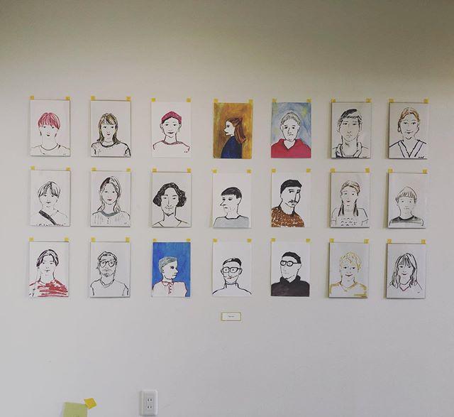 HEARTYギャラリー友野可奈子 似顔絵イベント 終了致しました。展示「portrait」は本日より7月15日月曜までになります。ぜひ、気軽に足をお運びください♡#友野可奈子 #heartygallery #portrait#イラストレーター#art#個展#高崎カフェ#高崎美容室ハーティー @hearty__s