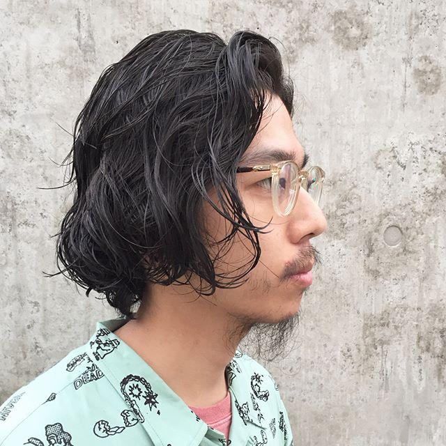 men's+permanentラフにかきあげるだけでスタイリングオッケー︎stylist:塚越@abond_tsukagoshi #abond #高崎#メンズ