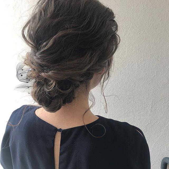 担当SHIORI @shiori_tomii 浴衣setもお任せ下さい♡#abond#shiori_hair #hairarrange #ヘアアレンジ