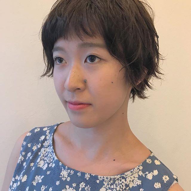 担当 SHIORI @shiori_tomii permでつくる無造作short2#abond #shiori_hair #shorthair