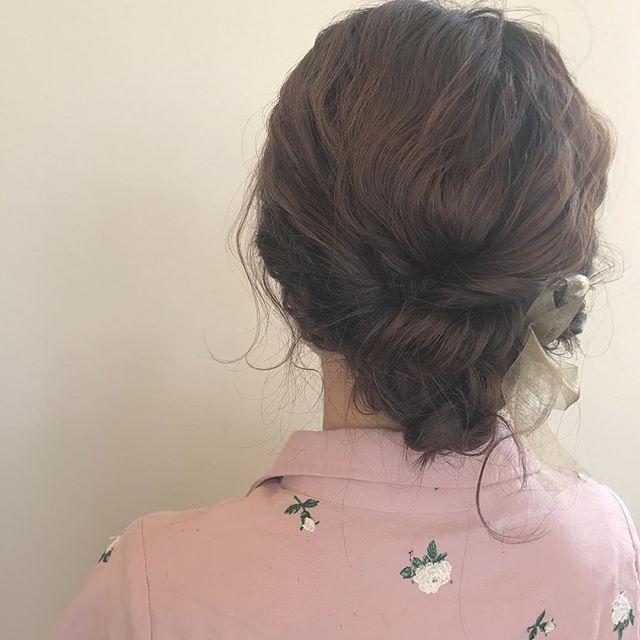 担当シオリ @shiori_tomii 浴衣set#abond#shiori_hair #hairarrange #ヘアアレンジ#高崎