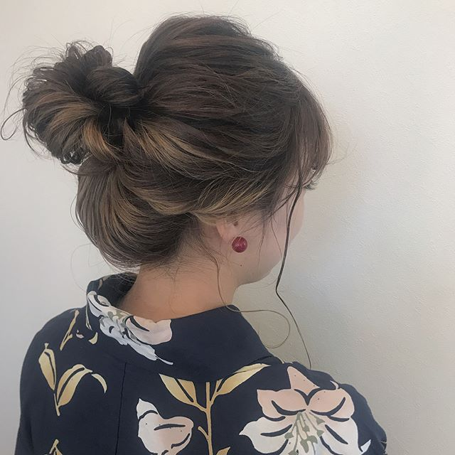 担当シオリ @shiori_tomii お祭りセットにきてくれました♡毎年ありがとう♡行ってらっしゃい#abond#shiori_hair #hairarrange #ヘアアレンジ