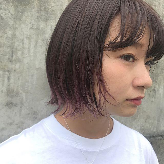 担当シオリ @shiori_tomii チョコレートから毛先にかけてpinkへグラデーションpinkが最近人気です#abond#shiori_hair #haircolor#グラデーション#高崎