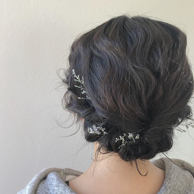 担当シオリ @shiori_tomii 肩につかないくらいのBOBでもアップにできます#abond #shiori_hair #hairarrange #ヘアアレンジ#ヘアセット#高崎美容室