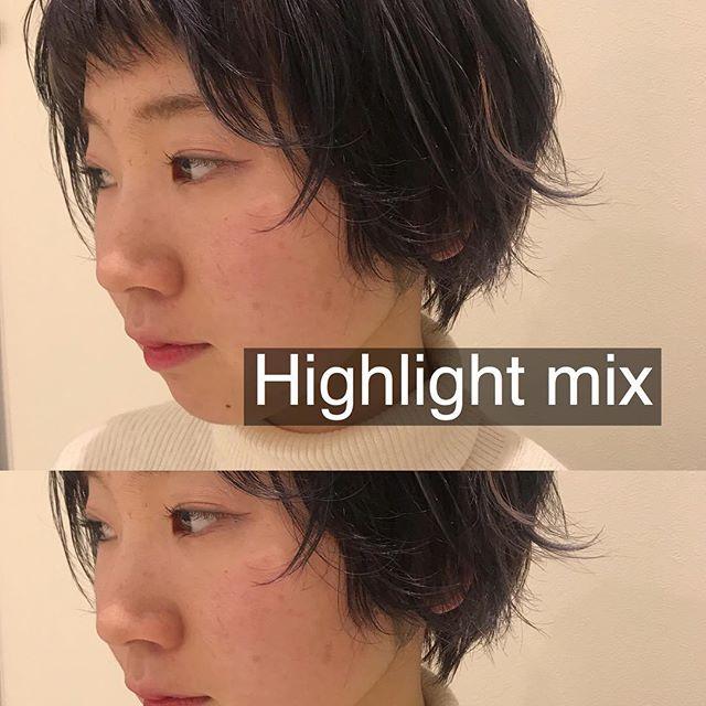 担当シオリ @shiori_tomii 前頭は濃いラベンダーにオレンジピンクネイビーオリーブの4種類のHighlightをムラムラにいれました♡#abond #shiori_hair #ムラカラー#高崎美容室