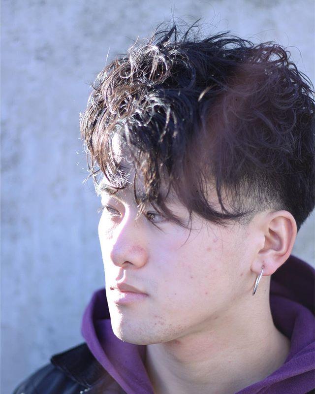 stylist:塚越本人の持つ髪のクセを活かしたmen's style@abond_tsukagoshi #abond#高崎 #髪#メンズ#かりあげ #美容室