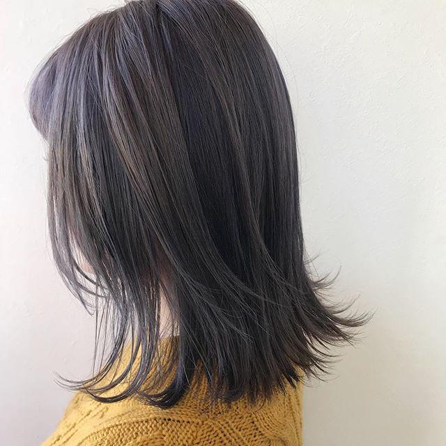 担当シオリ @shiori_tomii 加工なしのラベンダーグレージュケアブリーチをしてます#abond #shiori_hair #ラベンダーグレージュ #ラベンダー#高崎美容室