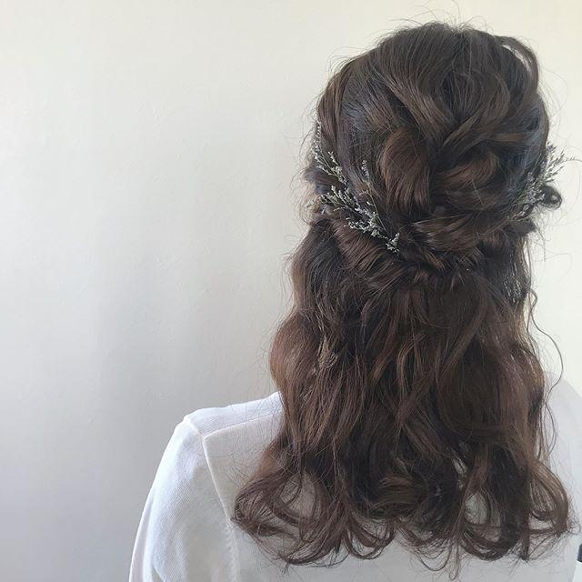 担当シオリ @shiori_tomii ハーフアップのゆるっとヘアセット#abond #shiori_hair #ヘアセット#ヘアアレンジ#hairarrange #高崎美容室