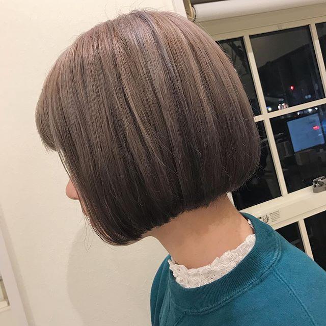 担当シオリ @shiori_tomii 毛先にかけてピンクバイオレットを#abond #shiori_hair #高崎美容室