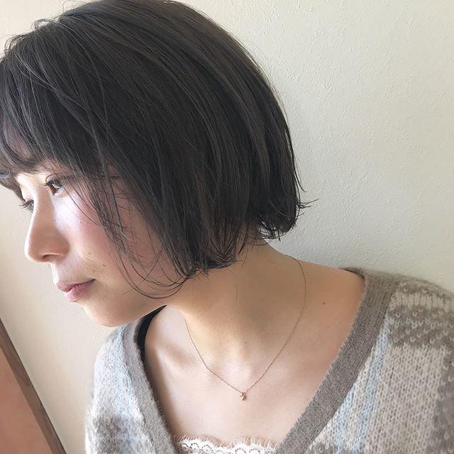 担当シオリ @shiori_tomii リップラインBOBのラベンダーグレージュ透明感抜群です#abond #shiori_hair #ラベンダーグレージュ#高崎美容室