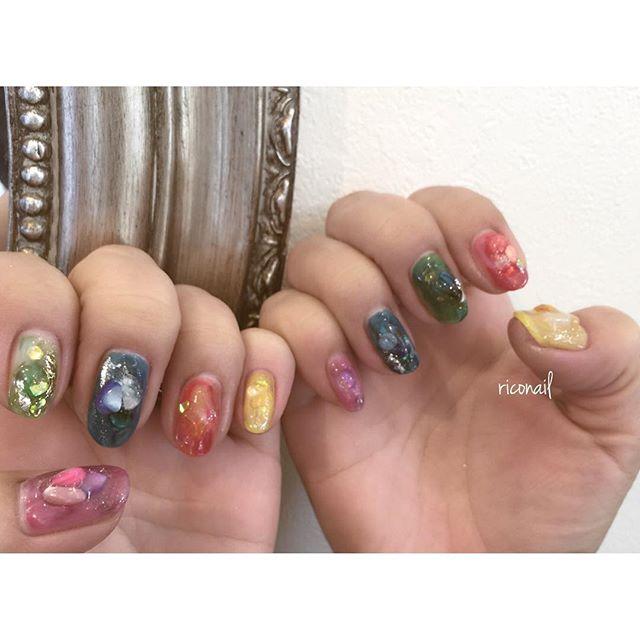 colorful️#riconail #HEARTY #abond #nail #nails #gelnail #gelnails #nailart #instanails #nailstagram #beauty #fashion #nuancenail #colorful #ネイル #ジェルネイル #ネイルデザイン #ニュアンスネイル #シアーネイル @riconail123
