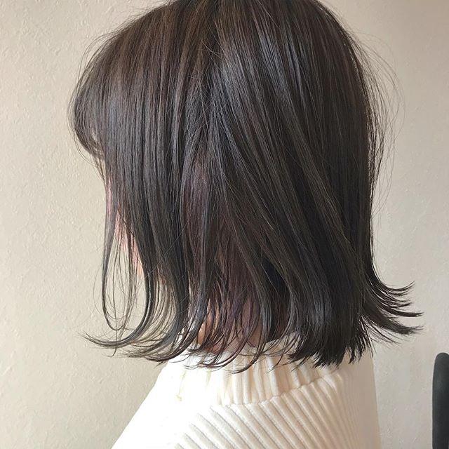 担当シオリ @shiori_tomii グレージュカラーにインナーカラーでラベンダーを#abond #shiori_hair #グレージュ#ラベンダー#高崎美容室
