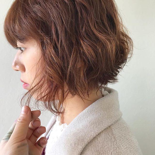 担当シオリ @shiori_tomii orange color+perm#abond#shiori_hair #orangehair #オレンジ#高崎美容室