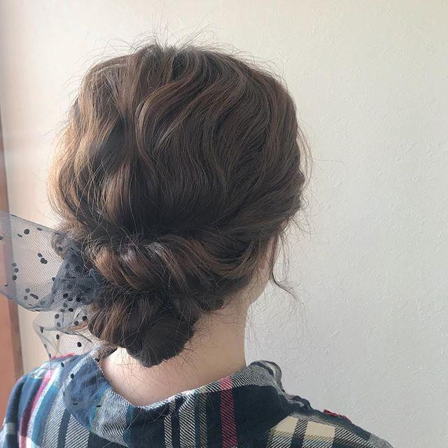 担当シオリ @shiori_tomii 結婚式hair set#abond #shiori_hair #hairarrange #ヘアアレンジ#ヘアセット#高崎美容室