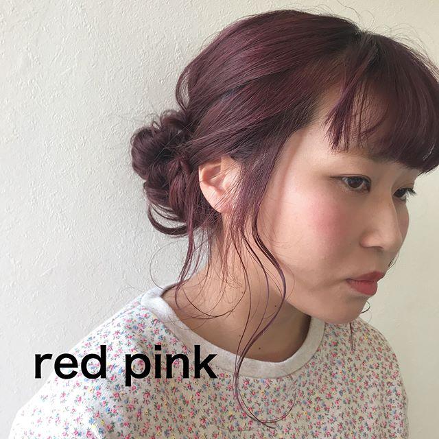 担当シオリ @shiori_tomii ピンクみがかったレッドcolorにしました️ビビットカラーでまわりと差がつきます!#abond #shiori_hair #ボルドー#レッド#高崎美容室#hairarrange #haircolor #ヘアアレンジ