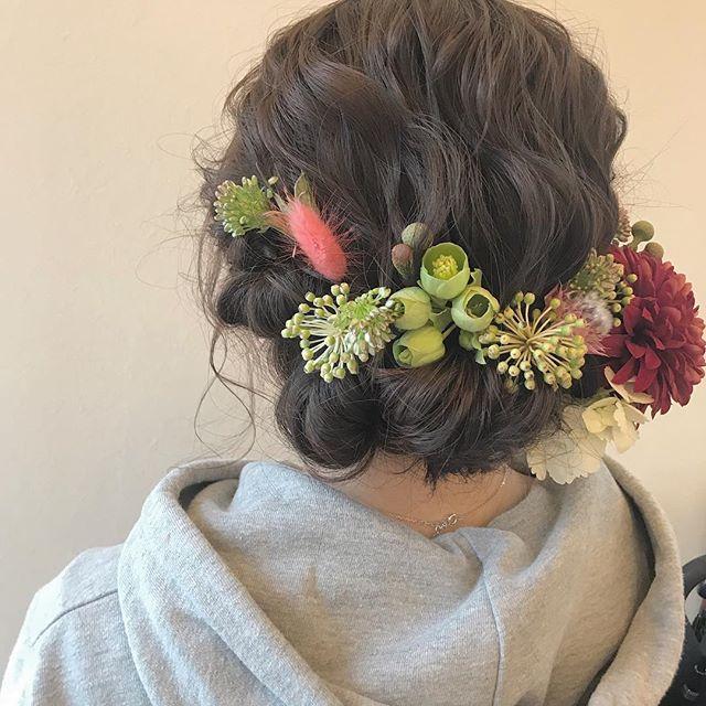 担当シオリ @shiori_tomii 卒業式ヘアセット🧚♀️#abond #shiori_hair #卒業式ヘアセット#ヘアセット#成人式ヘア#高崎美容室#高崎