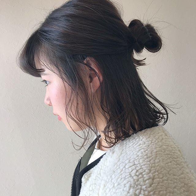 担当シオリ @shiori_tomii 横浜から来てくれるかわいいお客様♡ばっさり切らせてもらいました🧚♂️うれしいです!ありがとう!#abond #shiori_hair #BOB#ヘアアレンジ#hairarrange #高崎美容室