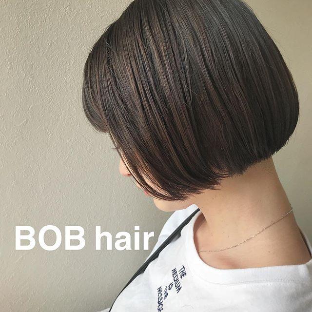 担当シオリ @shiori_tomii 最近はあえて外に巻かないbob hairがすきです4/1からはHEARTY @hearty__s に移動しますのでご予約はそちらからお願いします♡#abond#shiori_hair #bob#高崎美容室