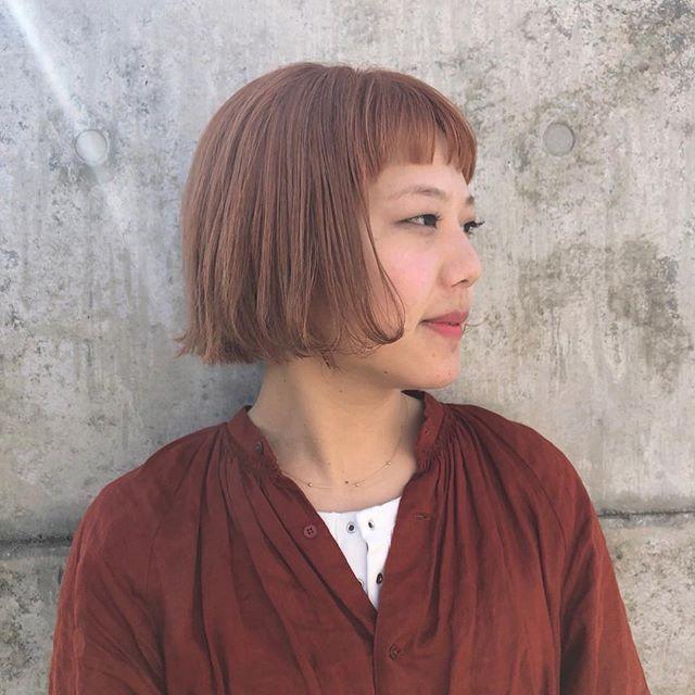 stylist:塚越春に向けてのハイトーン#abond#ボブ#高崎#オレンジ#ハイトーン