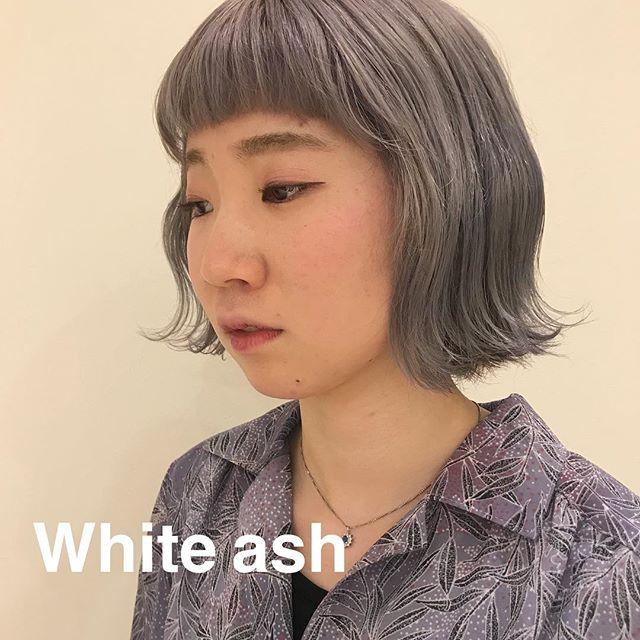担当シオリ @shiori_tomii ホワイトアッシュ🦄4/1からはHEARTY @hearty__s に移動しますのでご予約はそちらからお願いします♡#abond#shiori_hair #ホワイトアッシュ#高崎美容室