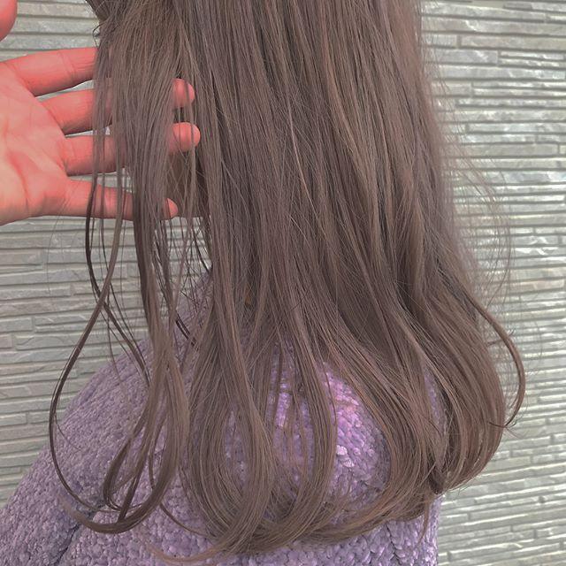 hair ... TOMMY ︎春らしいラベンダーベージュ色落ちも◎@abond_tommy #tommy_hair #abond#hearty#heartyabond#高崎#高崎美容室