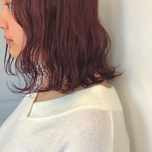 hair ... TOMMY ︎cherry color@abond_tommy #tommy_hair#abond#hearty abond#hearty#高崎#高崎美容室