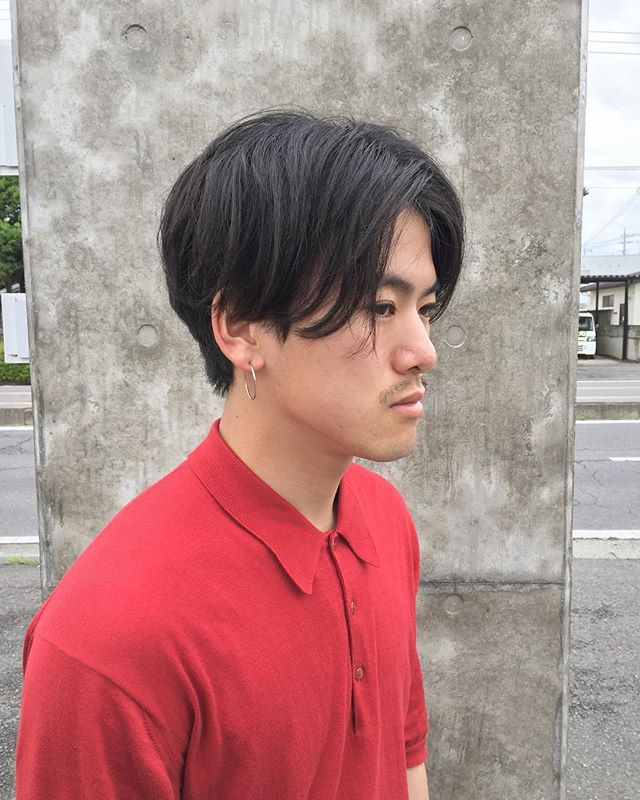 stylist:塚越イッチーご来店︎彼は週末に伊勢崎の古着屋さんgulimで働いてますので会いに行ってあげてください!よろしくです。#abond#高崎#美容室#センターパート#メンズ