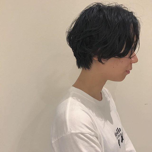 hair ... TOMMY ︎short hair はサイドから見たアングルがとっても大事♡こだわってつくってます︎@abond_tommy #tommy_hair#heartyabond# abond#アボンド#高崎#高崎美容室#shorthair #short#ショートヘア#ショート#ショート女子#ショートパーマ