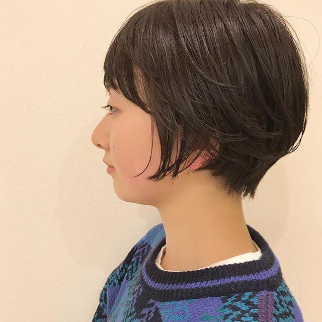 初めてのお客様︎襟足をタイトにしたハンサムショート︎担当:杉田使用スタイリング剤:N.ポリッシュオイル#高崎#高崎美容室#ショート#ショートボブ#ハンサムショート#エヌドット