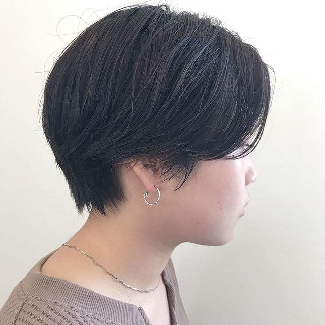 前髪〜サイドピンパーマ🧷乾かしてスタイリング剤を揉み込めば完成担当:杉田#ハンサムショート#ショート#ボブ#ショートボブ