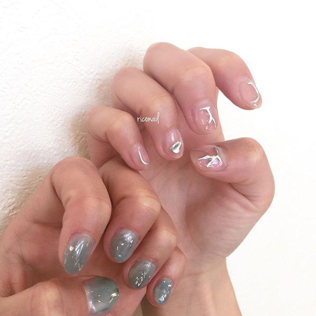 久しぶりにabondでネイルさせていただきました◡̈⃝#riconail #HEARTY #abond #nail #nails #gelnail #gelnails #nailart #instanails #nailstagram #beauty #fashion #nuancenail #ネイル #ジェルネイル #ネイルデザイン #アシンメトリーネイル #ニュアンスネイル #ミラーネイル #シアーネイル @riconail123