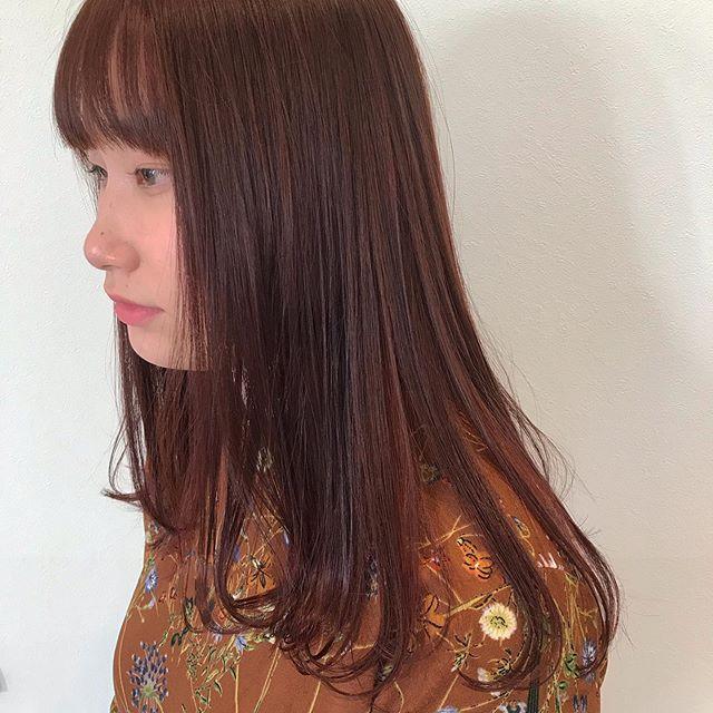 hair ... TOMMY ︎オレンジベージュジューシーな色でお肌の血色もよく見えます🕊12月のご予約は大変混み合いますので、お早めのご予約をオススメいたします♀️ @abond_tommy @heartyabond#tommy_hair #heartyabond#abond#カラー#ヘアカラー#アボンド#高崎#高崎美容室
