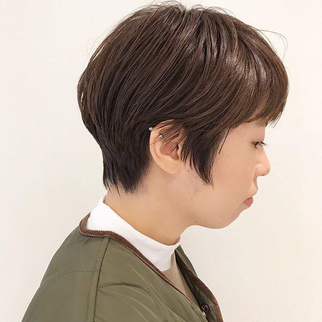 クセがある方でもまとまりと毛流れを♂️mmクリームバームを揉み込むだけで完成です@sugita.ryosuke #高崎 #高崎美容室 #abond #ボブ #ウルフ #ショート  #インナーカラー #ヘアセット #パーマ #ボブ #レイヤー #メンズ #ベリーショート女子