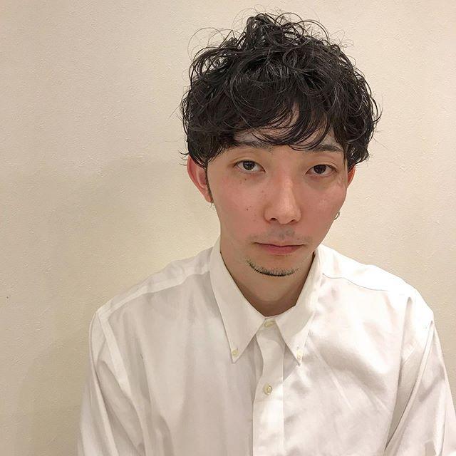 クセ毛とパーマの残りをいかしてカット︎スタイリング剤:モデニカナチュラルJ@sugita.ryosuke #マッシュショート #メンズヘア #ボブ #ボブウルフ #ウルフ #群馬美容室 #高崎美容室
