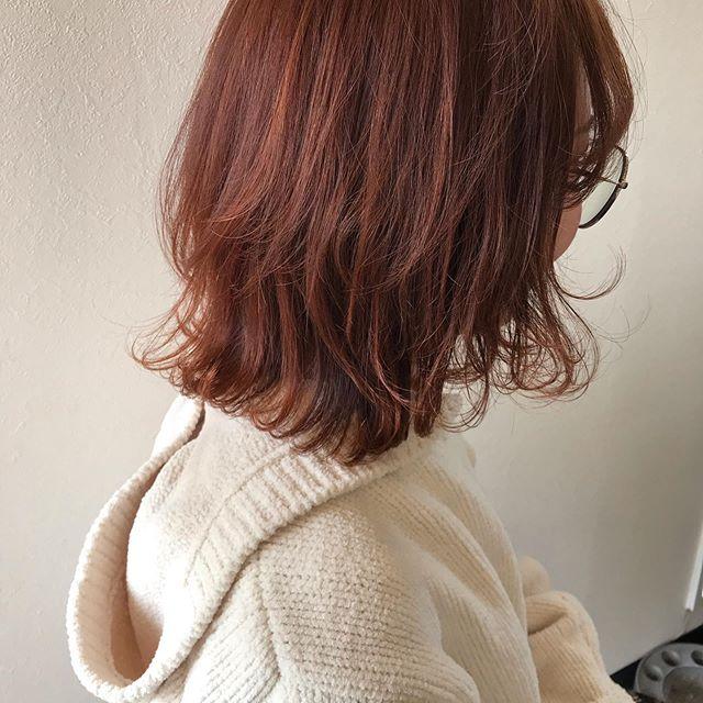 hair ... TOMMY ︎ジューシーなorange派手すぎず、ナチュラルすぎず.絶妙なorange color 2月のご予約枠残りわずかです!3月はご予約が取りづらくなっているのでお早めのご予約をおすすめします @abond_tommy @heartyabond#tommy_hair #heartyabond#abond#カラー#ヘアカラー#アボンド#高崎#高崎美容室